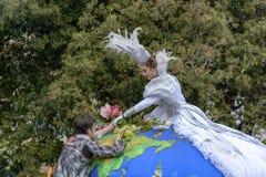 Carnaval de fleur à Nice, Frances Photos stock