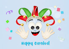 Carnaval de joker Photo stock