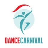 Carnaval de la danza - vector Logo Template Fotografía de archivo libre de regalías