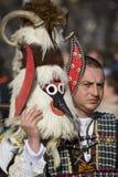 Carnaval de la máscara de Surva Kuker desenmascarado Imagen de archivo