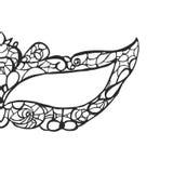 Carnaval de la mascarilla Máscara para el carnaval Henna Paisley Mehndi sombras del gris Fotos de archivo libres de regalías