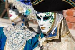 Carnaval de las máscaras de Venecia Imágenes de archivo libres de regalías
