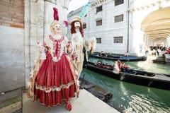 Carnaval de las máscaras de Venecia Foto de archivo libre de regalías