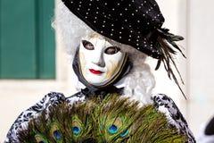 Carnaval de las máscaras de Venecia Foto de archivo