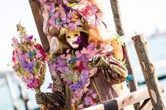 Carnaval de las máscaras de Venecia Imagenes de archivo