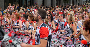 Carnaval de Londres, Notting Hill Défilé des costumes d'Ann de danseurs Photographie stock