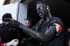 Carnaval de LUZON de diables. L'ESPAGNE photo libre de droits