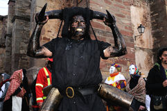 Carnaval de LUZON de diables. L'ESPAGNE images stock