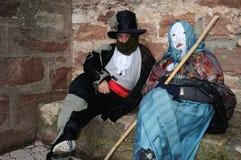Carnaval de LUZON de diables. L'ESPAGNE photos libres de droits