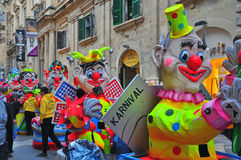 Carnaval 2014 de Malte Images stock