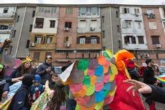 Carnaval de NAPLES SCAMPIA Gridas Photos stock