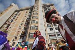 Carnaval de NAPLES SCAMPIA Gridas Image stock