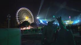 Carnaval De Nice Frankrike stock video