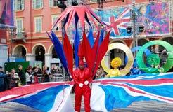 Carnaval de Niza el 21 de febrero de 2012, Francia Fotografía de archivo libre de regalías