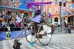 Carnaval de Niza el 21 de febrero de 2012, Francia Foto de archivo libre de regalías