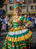 Carnaval de Notting Hill dans la femme de Londres Photo stock