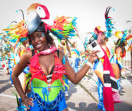 Carnaval de Notting Hill en famale atractivo de la mujer de Londres Foto de archivo libre de regalías