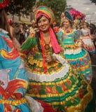 Carnaval de Notting Hill en la mujer atractiva de Londres Foto de archivo libre de regalías