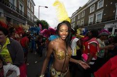 Carnaval de Notting Hill en Londres del oeste, Reino Unido Imágenes de archivo libres de regalías