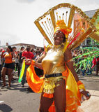 Carnaval de Notting Hill na dança da senhora de Londres 'sexy' Foto de Stock Royalty Free