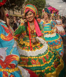 Carnaval de Notting Hill na mulher 'sexy' de Londres Foto de Stock Royalty Free