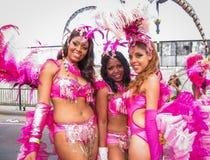 Carnaval de Notting Hill no woma 3 'sexy' de Londres três Fotos de Stock Royalty Free