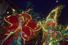 Carnaval 2017 de nuit de Semarang Photographie stock