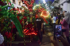 Carnaval 2017 de nuit de Semarang Images libres de droits