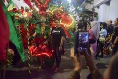 Carnaval 2017 de nuit de Semarang Photos stock