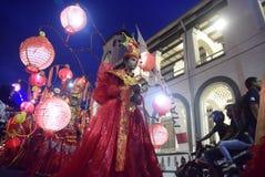 Carnaval 2017 de nuit de Semarang Images stock