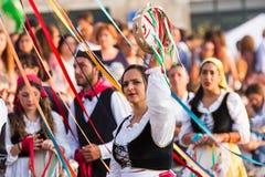 Carnaval de Polizzi Genersosa imagens de stock