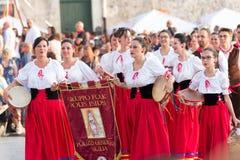 Carnaval de Polizzi Genersosa Photographie stock libre de droits