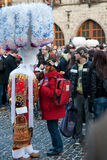 Carnaval de Renda de Binche. Foto de Stock Royalty Free