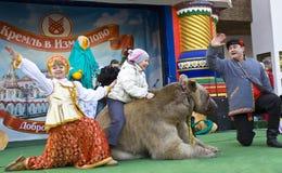 Carnaval de ressort à Moscou Photos libres de droits
