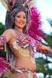 Carnaval de Santa Cruz de Tenerife: Mulher no traje Fotografia de Stock