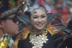 Carnaval de secteur de Semarang d'anniversaire de cultures Photographie stock