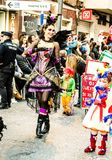 Carnaval de Torrevieja 2018. Festive event carnival in torrevieja on the Costa Blanca Spain. 20018, FEBRUARY 11 Royalty Free Stock Images
