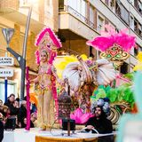 Carnaval de Torrevieja 2018. Festive event carnival in torrevieja on the Costa Blanca Spain. 20018, FEBRUARY 11 Royalty Free Stock Photos