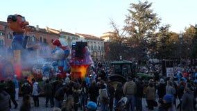 Carnaval de Vérone, Italie banque de vidéos