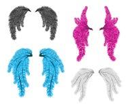 Carnaval-de vector van veervleugels vector illustratie