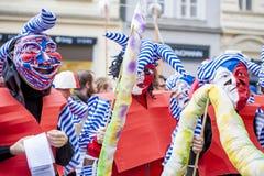 Carnaval de velours dans l'honneur à la révolution de velours en 1989 Photographie stock libre de droits