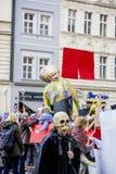 Carnaval de velours dans l'honneur à la révolution de velours en 1989 Photos libres de droits