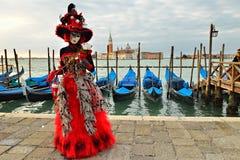 Carnaval de Venecia Imágenes de archivo libres de regalías