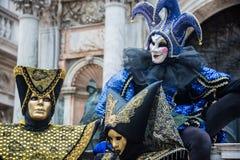 Carnaval 2015 de Venecia Imagen de archivo libre de regalías