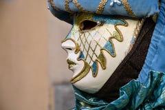 Carnaval de Venecia, máscaras hermosas en el cuadrado del ` s de St Mark, Italia Fotos de archivo libres de regalías