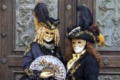 Carnaval 2017 de Venecia M?scaras venecianas Venecia, Italia El carnaval es el acontecimiento más importante del año en Venecia foto de archivo libre de regalías
