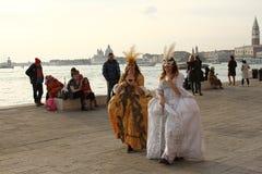 Carnaval de Veneza - disfarce Venetian Fotografia de Stock Royalty Free