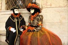 Carnaval de Veneza - disfarce Venetian Foto de Stock Royalty Free
