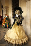 Carnaval de Veneza - disfarce Venetian Imagem de Stock Royalty Free
