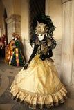 Carnaval de Veneza - disfarce Venetian Imagens de Stock